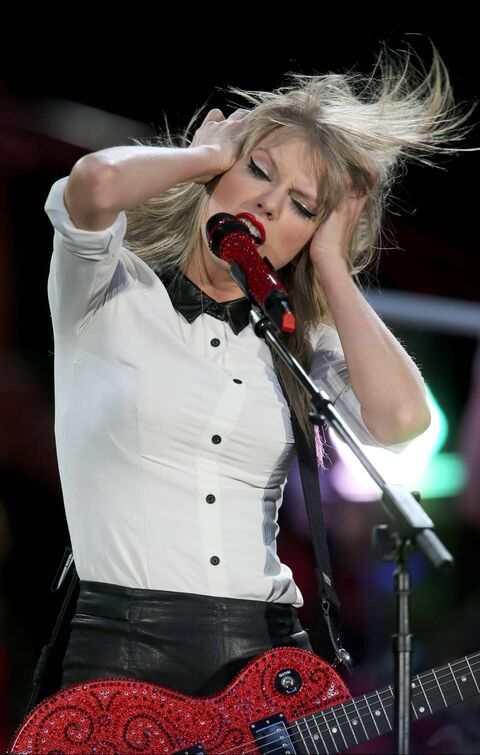 Taylor Swift performs at Investors Group Field, Saturday.