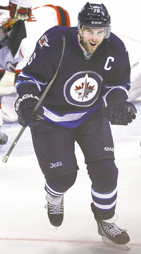 Jets captain Andrew Ladd