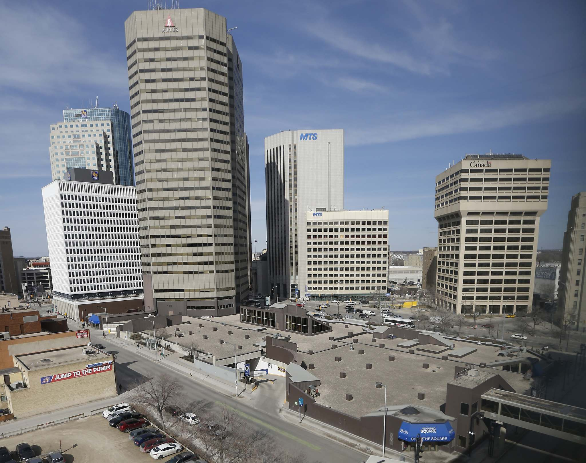 JOHN WOODS / WINNIPEG FREE PRESS</p><p>A highrise residential building project at Portage and Main may be announced as early as next month.</p>