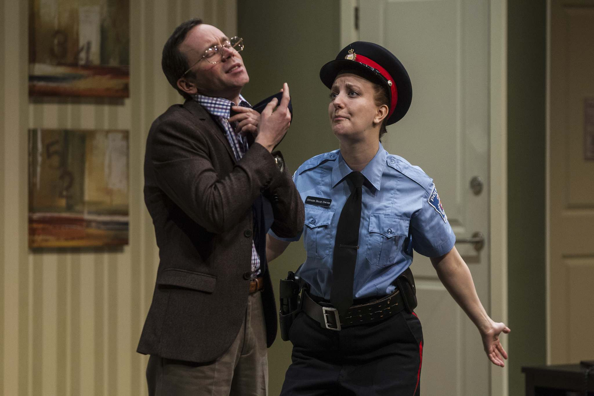 MIKE DEAL / WINNIPEG FREE PRESS</p><p>Tom Keenan and Heather Russell during a dress rehearsal for <em>Unnecessary Farce.</em></p>