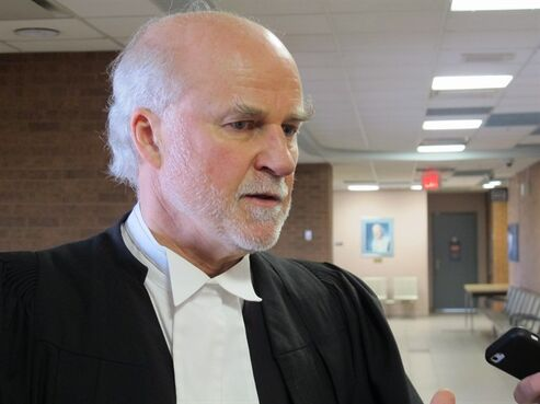 Media lawyer Brian MacLeod Rogers is seen in Newmarket, Ont., on Friday, April 17, 2015. Rogers argued in Superior Court against extreme secrecy ordered in a case in which RCMP Sgt. Peter Merrifield claims his superiors wrongfully destroyed his career. THE CANADIAN PRESS/Colin Perkel