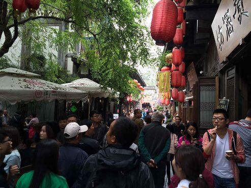 The Jinli Market in Chengdu. The region's population is expected to hit 23 million in 2025. A massive hydro project on the nearby Dadu River will help power the growth.