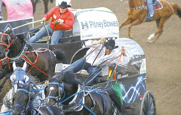 Jeff McIntosh / The Canadian Press archivesChuckwagon races are one of the most popular events at the annual Calgary Stampede.