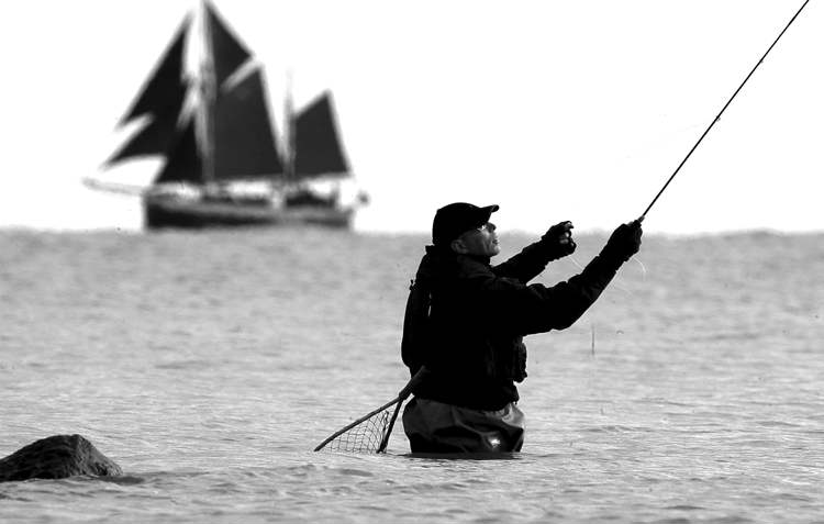 Hobbies, such as fishing, can help relieve the stress of work.