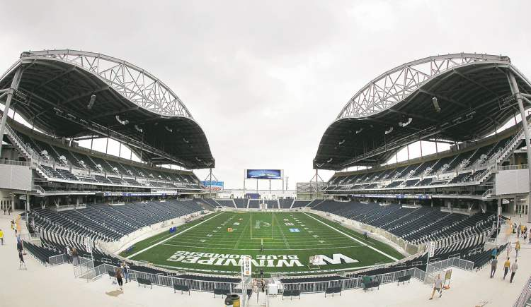 Winnipeg Blue Bombers' new home, Investors Group Field.
