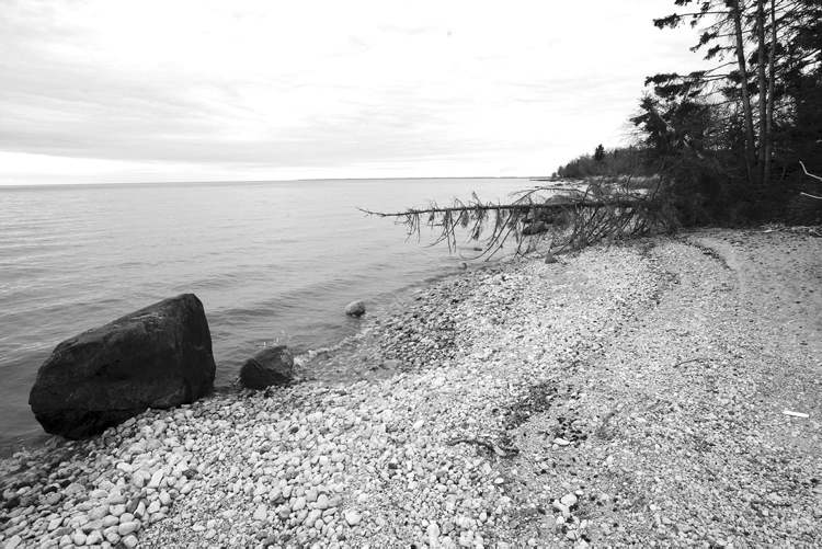 A shoreline of Lake Winnipeg in a May 2012 file photograph.