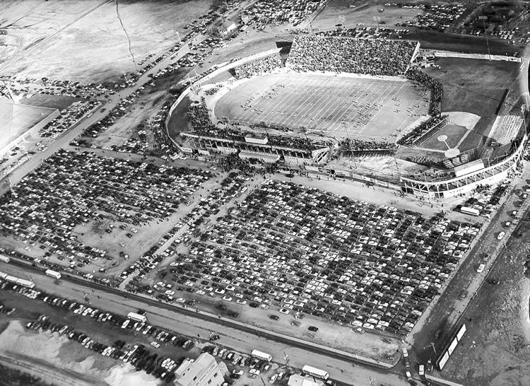 When the Bombers played their first game at the new Winnipeg Stadium in 1953, motorists found themselves in 'the worst traffic jam this city has ever seen,' according to the Free Press account.