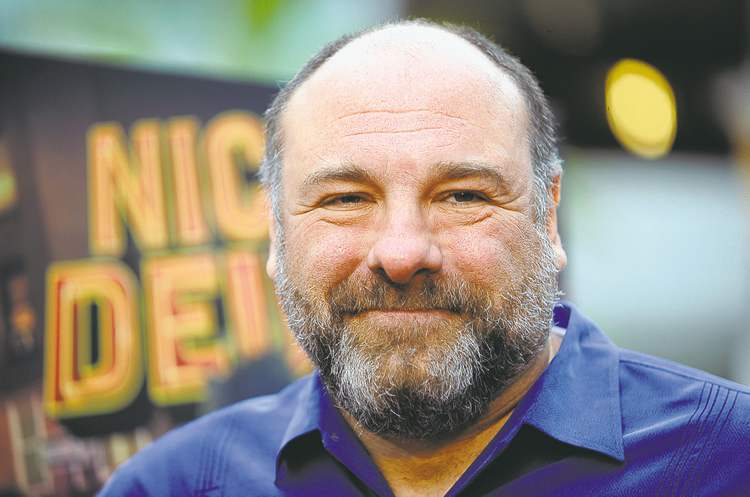James Gandolfini is seen at the L.A. premiere of Nicky Deuce last month. The Sopranos star died Wednesday in Italy.