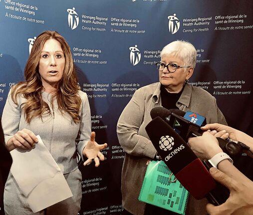 Krista Williams (left), WRHA chief health operations officer, and WRHA CEO Vickie Kaminski say patient volumes at city hospitals are up substantially.