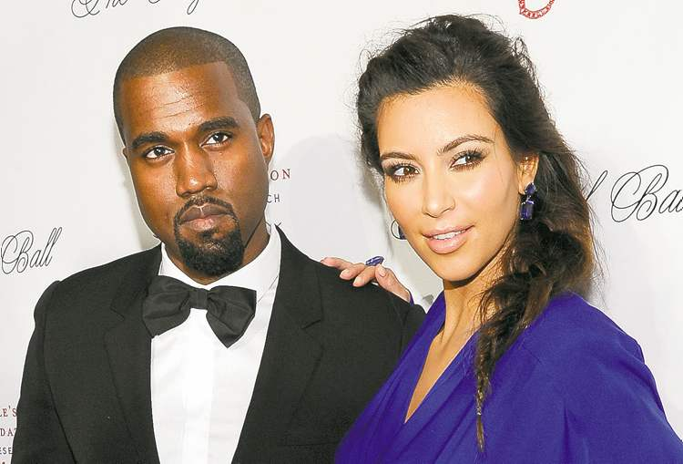 Kanye West and Kim Kardashian.