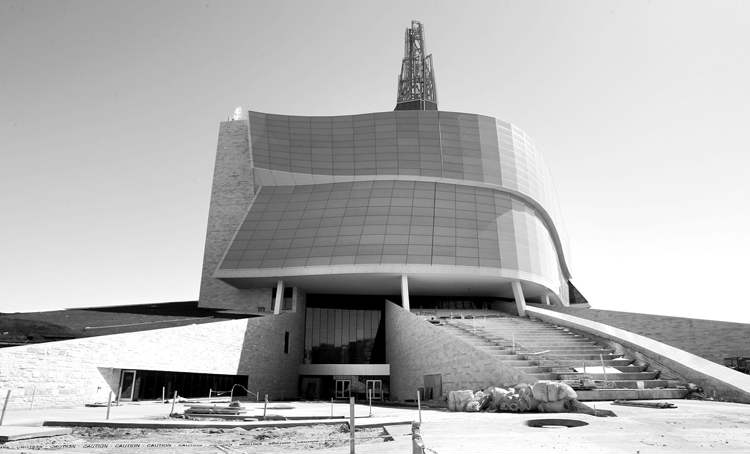 The Canadian Museum for Human Rights is pictured in this April file photo.