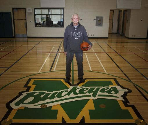 Manitoba basketball legend Martin Riley teaches psychology, law, and geography at Miles Macdonell Collegiate.