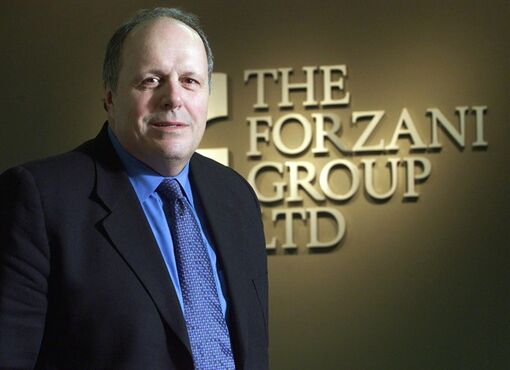 The Forzani Group Chairman & CEO John Forzani poses in his Calgary offices on April 2, 2002. THE CANADIAN PRESS/Adrian