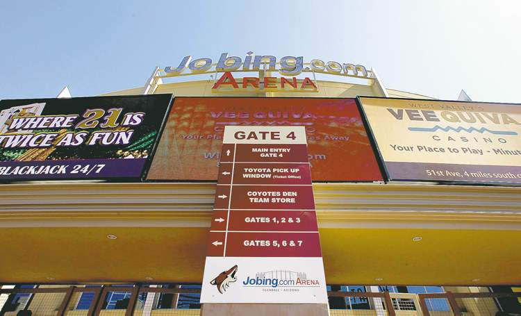 Jobing.com Arena, likely the home of the Phoenix Coyotes for  the next five years.