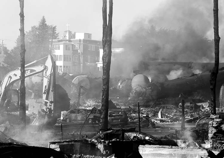 Lac-Mégantic's downtown core lies in ruins.