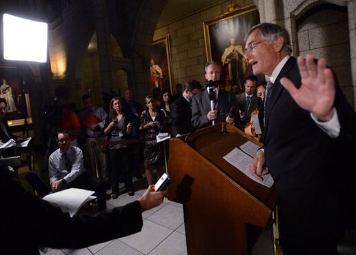 Senator James Cowan, the Liberal Senate leader, talks to media in Ottawa, Thursday, May 9, 2013 after copies of a report of an audit on Senators housing expenses were handed out. The Liberals in the Senate are trying to trigger special parliamentary hearings in the hopes of forcing the prime minister's former top aide and other Conservatives to testify.Liberal Senate leader James Cowan is expected to argue that Stephen Harper's office violated the sacrosanct privileges of parliamentarians.THE CANADIAN PRESS/Sean Kilpatrick