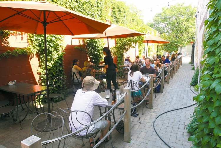 There is a freshness to Sherbrook Street in West Broadway, where there is a blooming sense of life and the patio at Stella's is usually full.