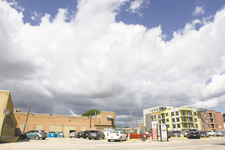 The parkade area North of James St. between Lily St. and Amy St. in the  Exchange District has been in limbo for three years. Construction work had begun three years ago, but stalled and has been in limbo ever since.