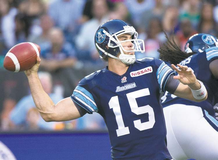 Toronto quarterback Ricky Ray was smokin' hot Sunday night, completing 17 straight passes and throwing for three touchdowns.