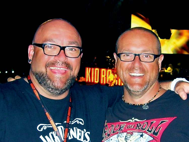 Willy, left, with his brother Allen, the dynmaic duo rocked with Kid Rock and rolled with the tide of bikers that lined the streets of Milwaukee.