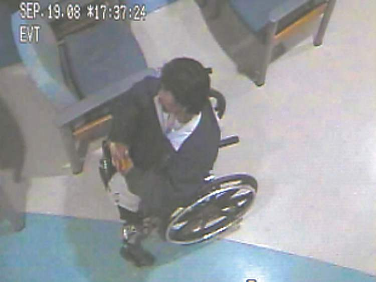 Brian Sinclair is seen in 2008 surveillance video waiting in the HSC emergency room.