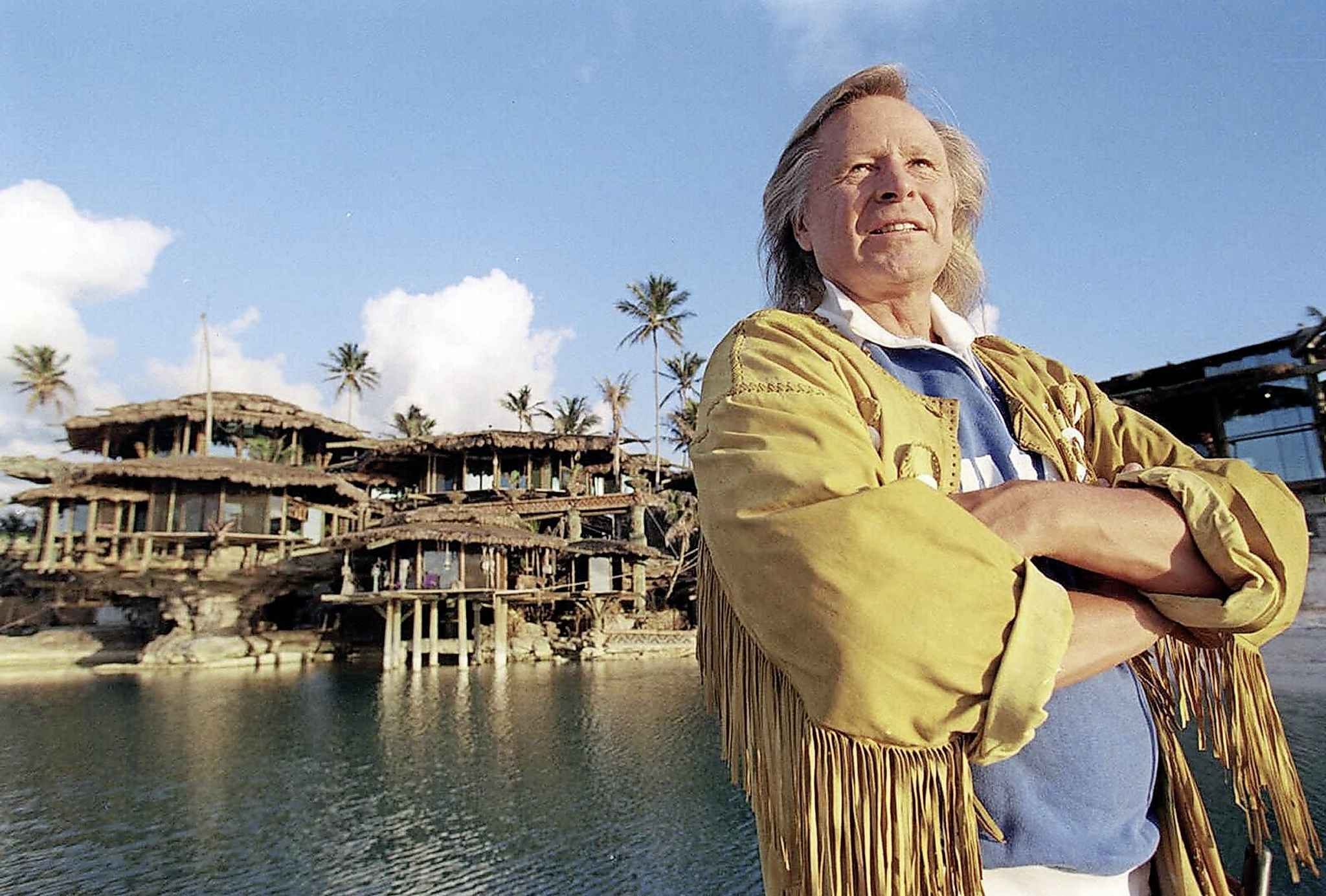 Nygard pictured at his Bahamas home in 2000.