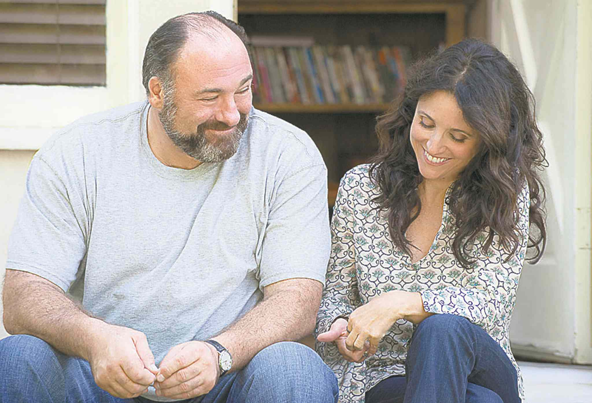 James Gandolfini and Julia Louis-Dreyfus play single parents who fall in love.