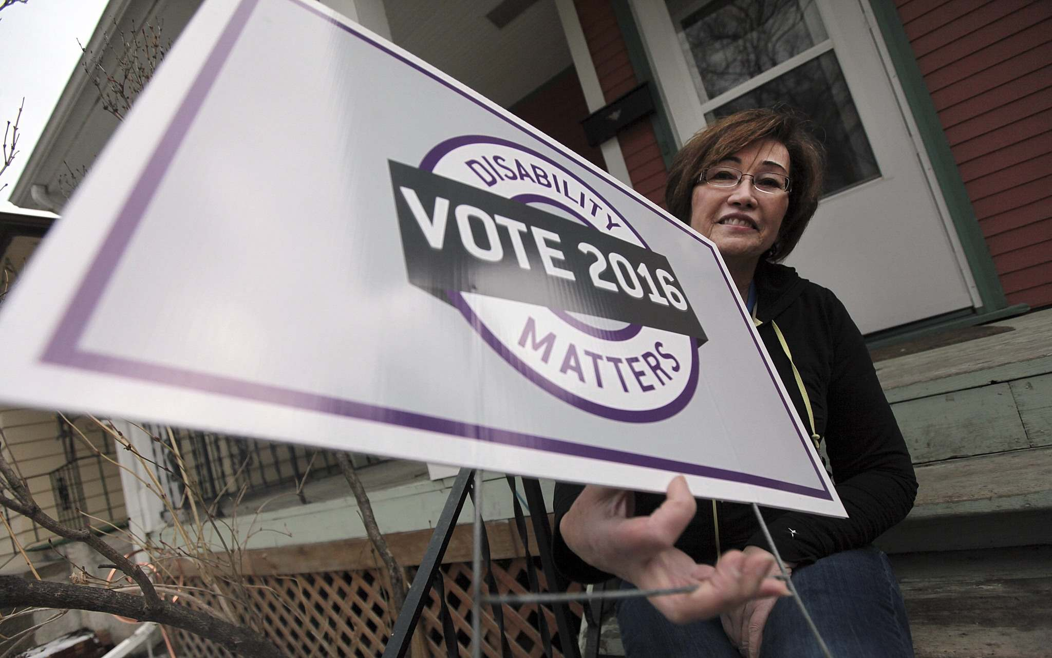 PHIL HOSSACK / WINNIPEG FREE PRESS</p><p>Disability Matters' Natalie Mulaire. The campaign not only encourages people living with special needs to vote, but to examine how parties and candidates address issues affecting their lives.</p>
