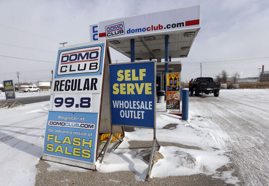 The Domo outlet on Marion Street in St. Boniface was the only gas bar in Winnipeg selling fuel for less than a dollar per litre Wednesday.