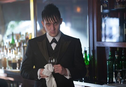 In this image released by Fox, Robin Lord Taylor portrays Oswald Cobblepot in a scene from