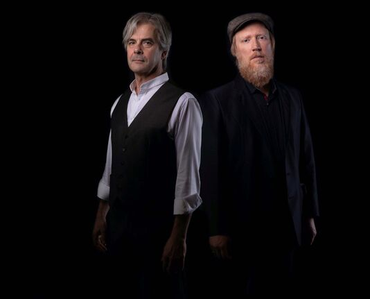 Supplied photo</p><p>Classical composer Glenn Buhr (left) and singer-songwriter Scott Nolan will pair up for Manitoba Skylines, a collaborative concert at the West End Cultural Centre.</p></p>