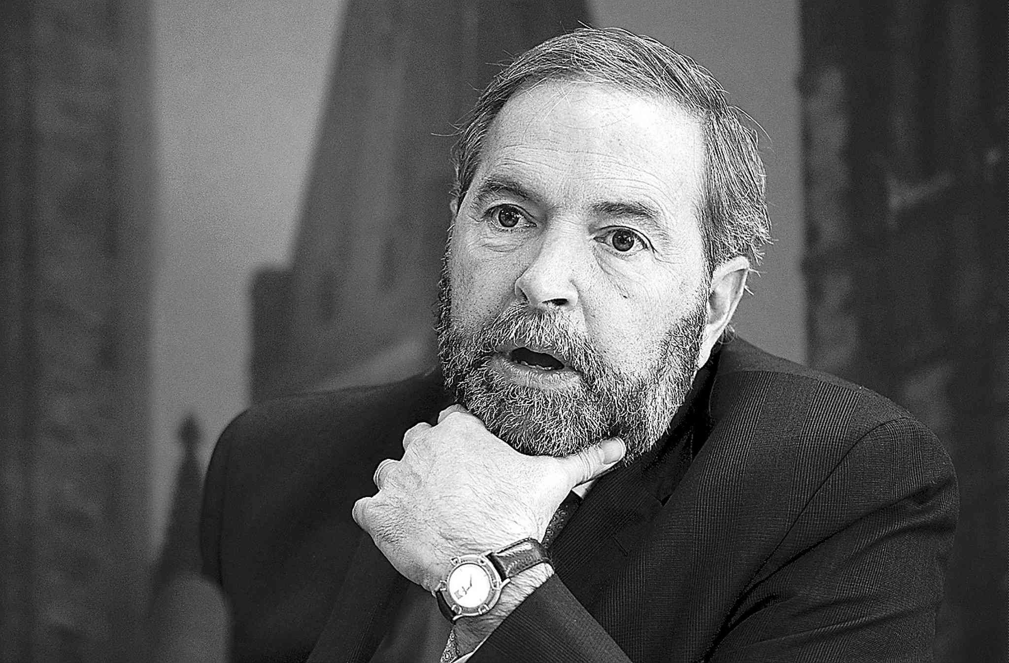 Media give short shrift to Tom Mulcair (above) while fawning over Justin Trudeau, a reader says.