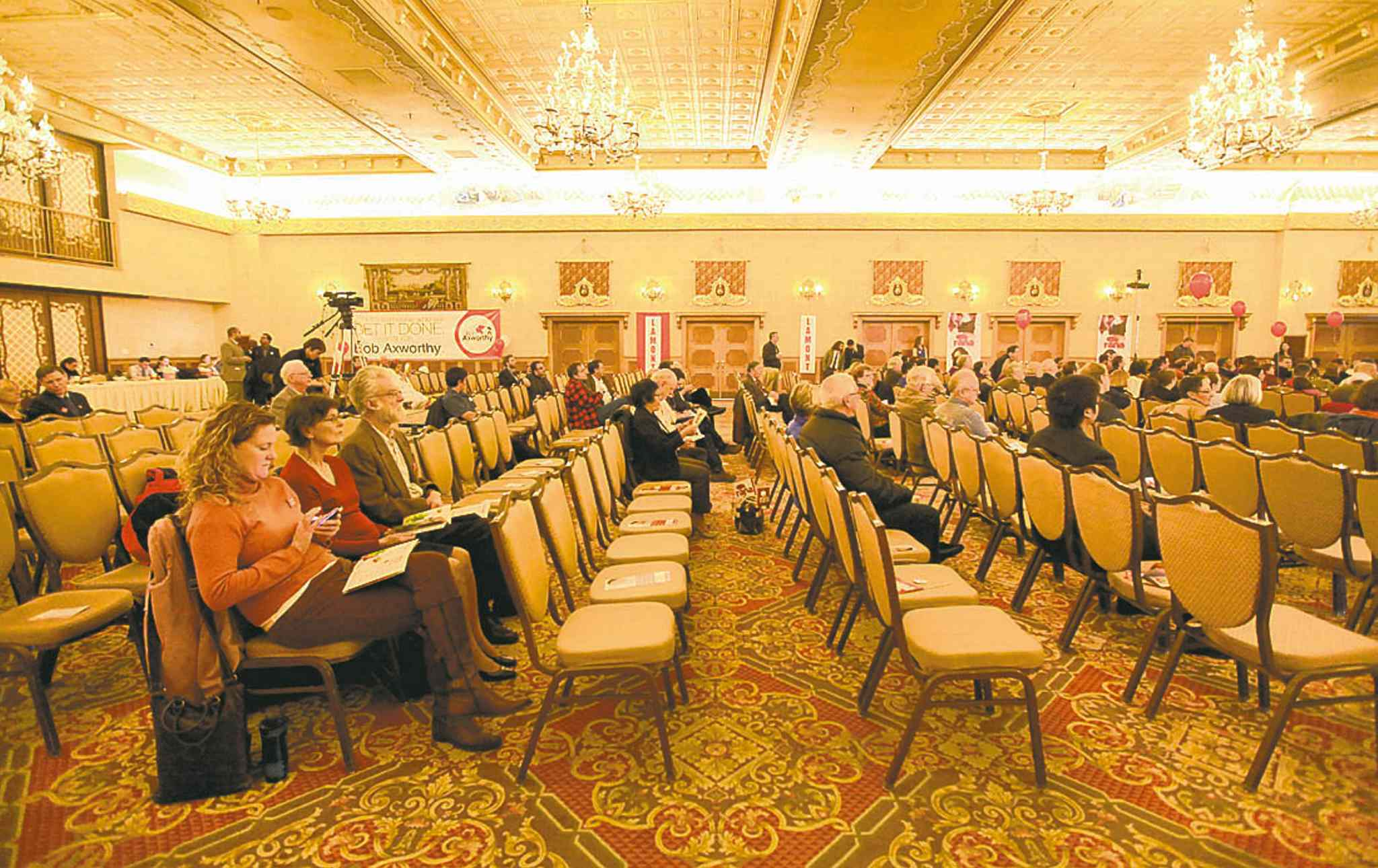 There were many empty seats at the Liberal leadership convention Saturday.