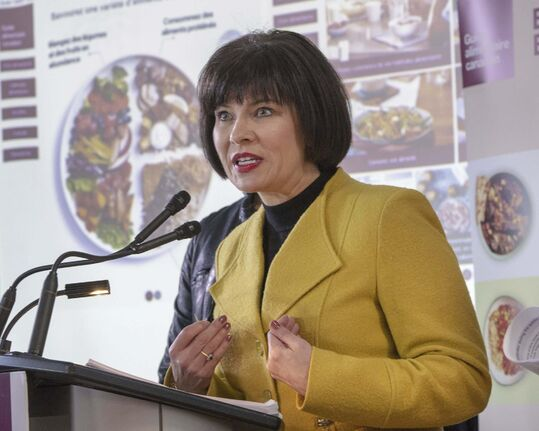 Federal Health Minister Ginette Petitpas Taylor unveiled Canada's Food Guide on Tuesday. (Ryan Remiorz / The Canadian Press)