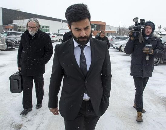Jaskirat Singh Sidhu, the driver of the truck that collided with the bus carrying the Humboldt Broncos hockey team leaves closing arguments at his sentencing hearing in Melfort, Sask., on January 31, 2019. An immigration lawyer says the truck driver who caused the deadly Humboldt Broncos bus crash in Saskatchewan will likely be deported to India right after he serves his sentence. Lorne Waldman, who is based in Toronto and is not involved in the case, says there's little 30-year-old Jaskirat Singh Sidhu can do to remain in Canada. He says permanent residents like Sidhu cannot remain in the country or come here if they commit a crime where the maximum punishment is 10 years or more, or the jail sentence is more than six months. THE CANADIAN PRESS/Ryan Remiorz