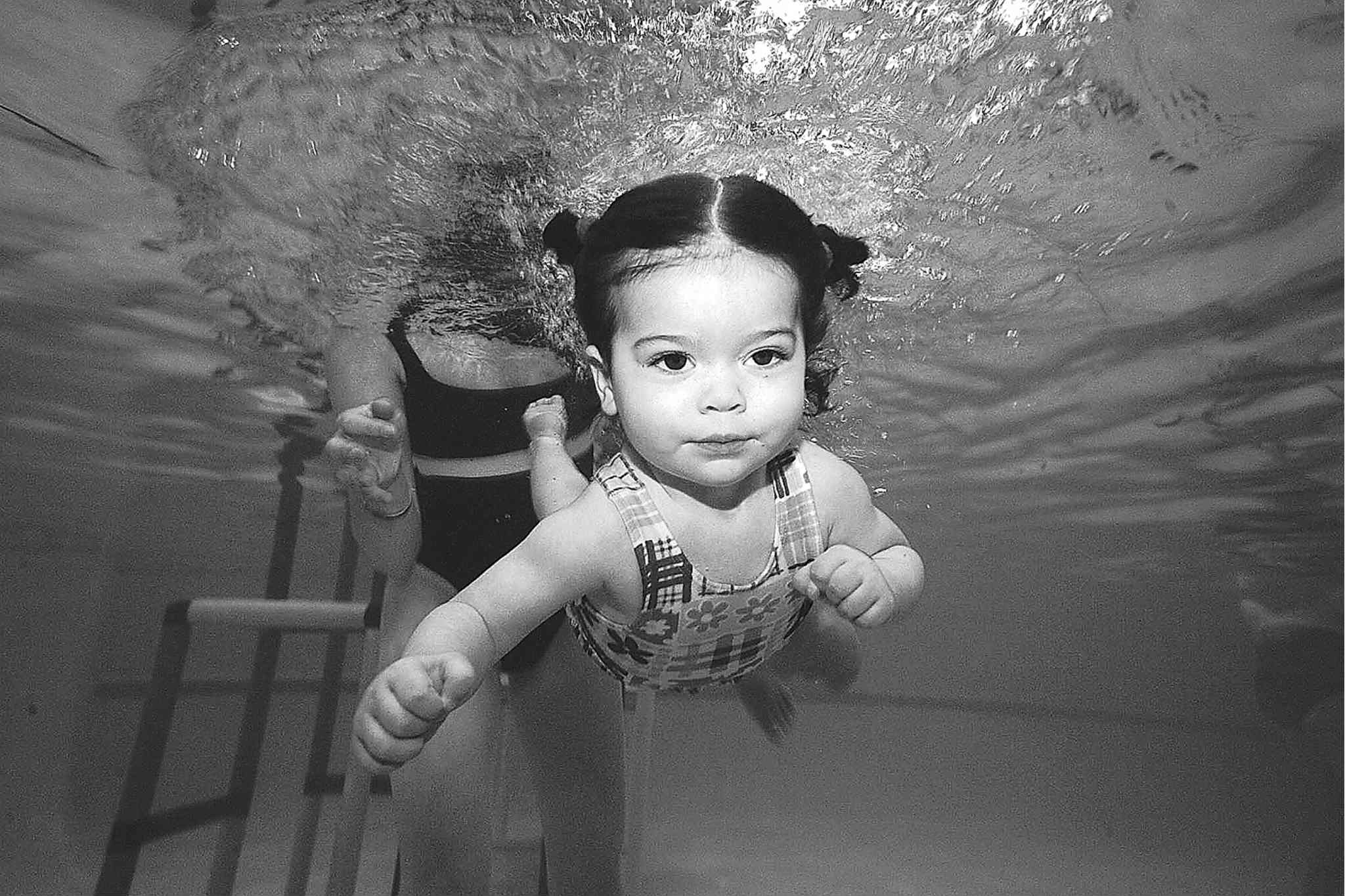Don't blame this cutie pie -- she just wants to learn to swim.