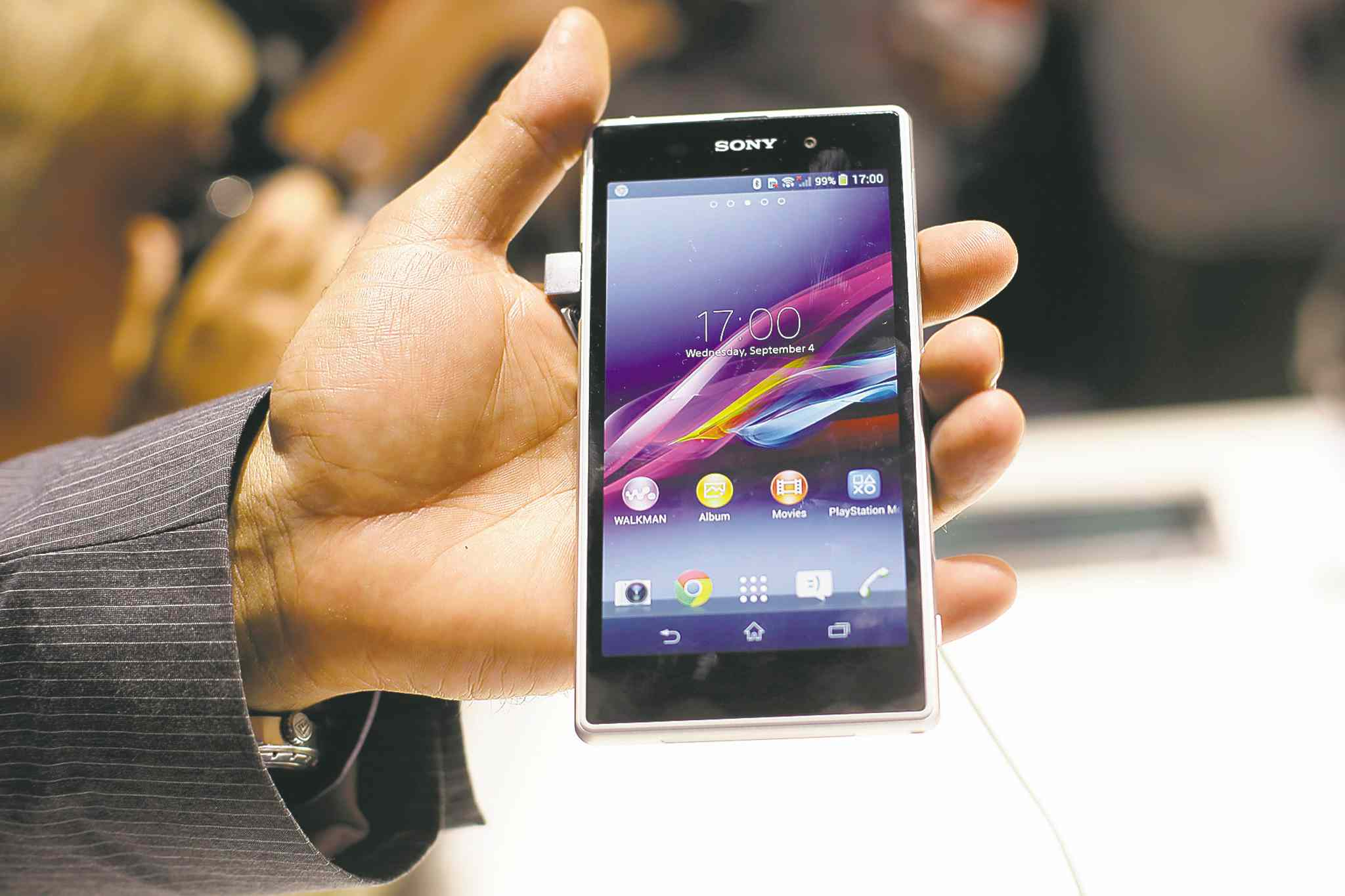 The new Sony Xperia Z1 smartphone (above). A hybrid device that's part tablet and part smartphone, called a phablet, is predicted to outsell tablets and gaming consoles next year.