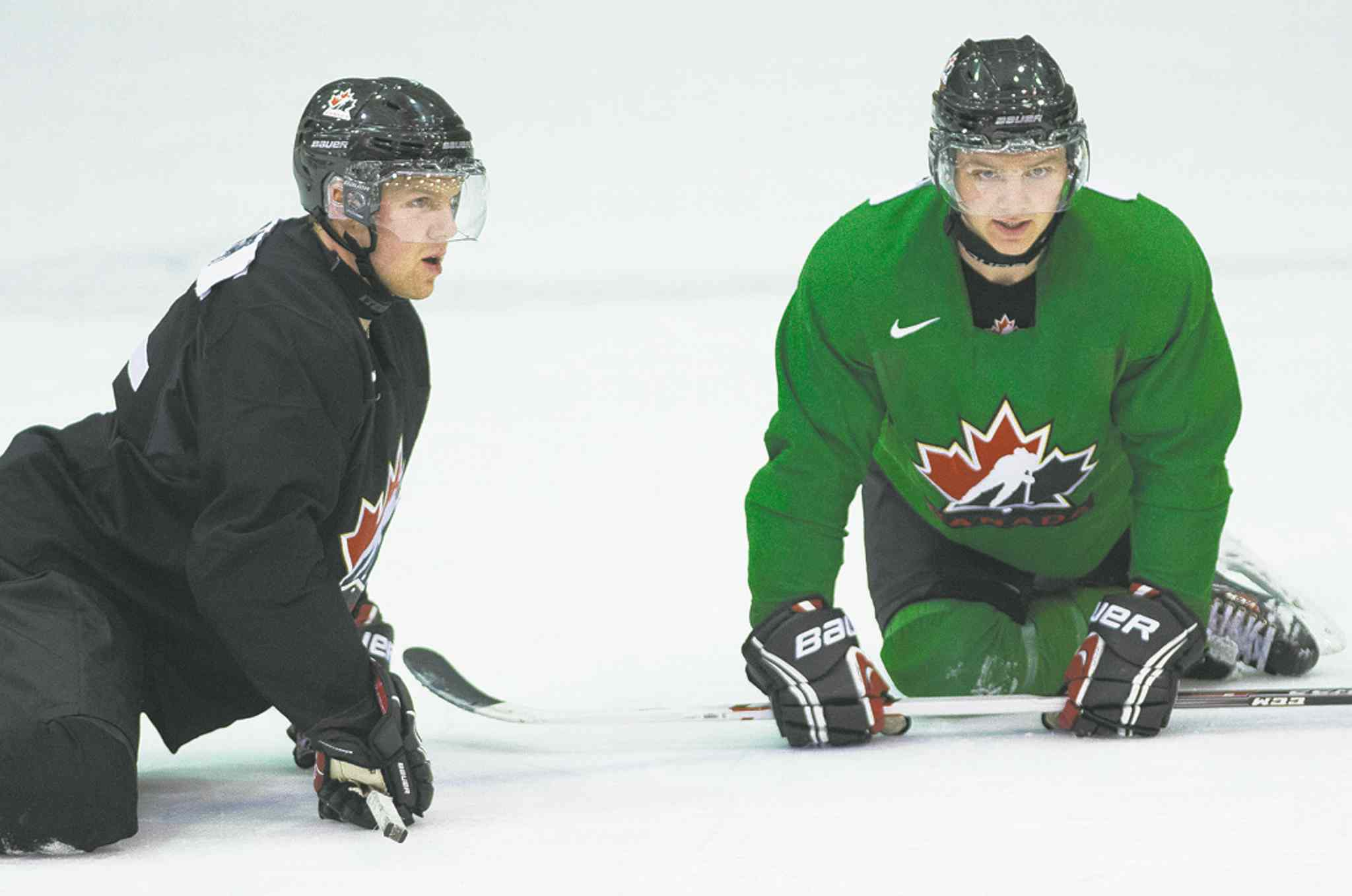 Griffin Reinhart (left) will likely be one of them, with his brother Sam likely at centre.