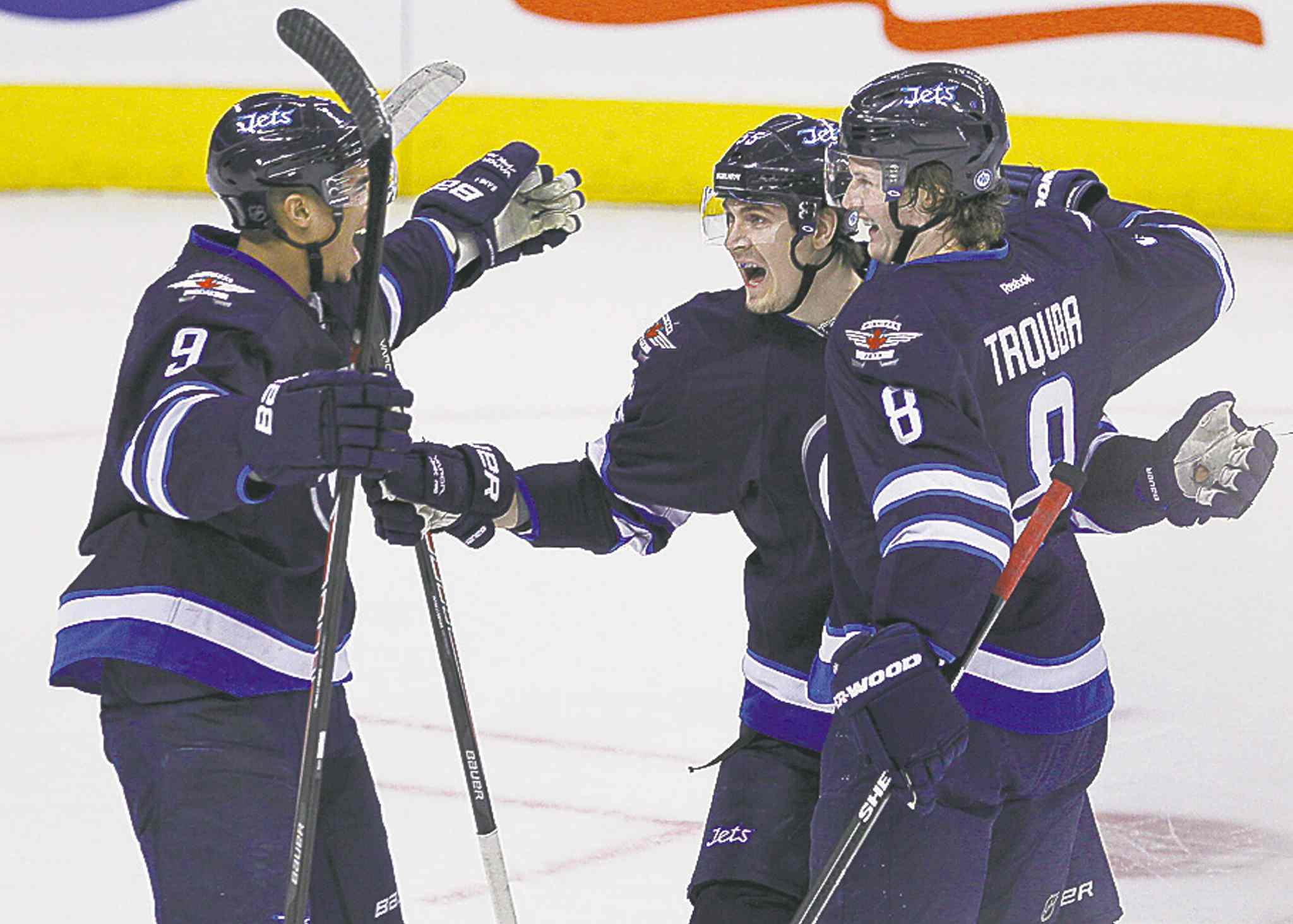 In Jacob Trouba (right) and Mark Scheifele (centre), Jets GM Kevin Cheveldayoff has the best pair of rookies in the league, Lawless argues. The future may be distant, but it is bright.