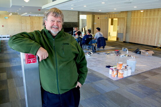 WOW! Hospitality president Doug Stephen checks in on renovations taking place at the Peguis Pavilion in Kildonan Park. Stephen hopes to open a new restaurant and cafe in August.