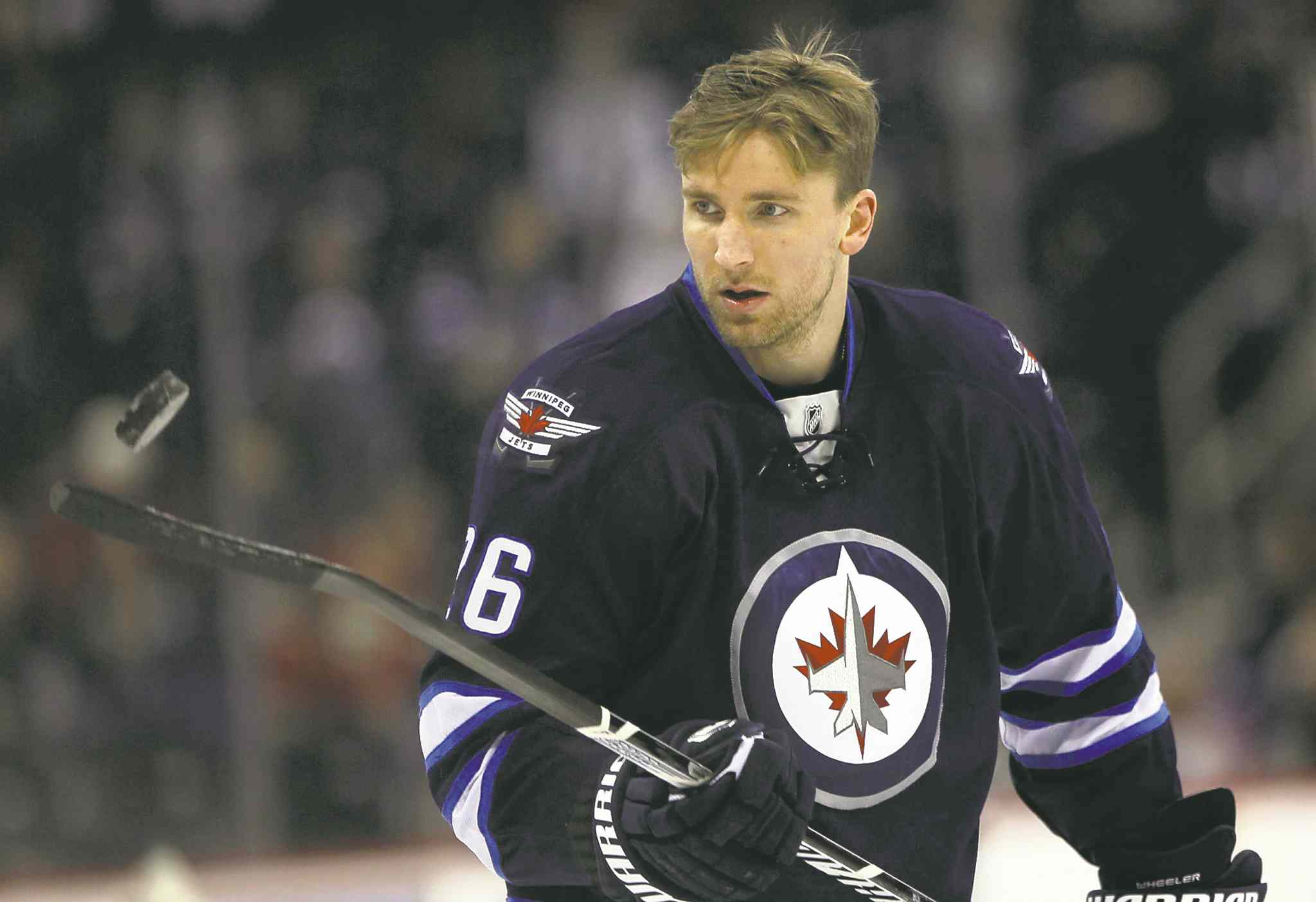 Right winger Blake Wheeler was named to Team USA.