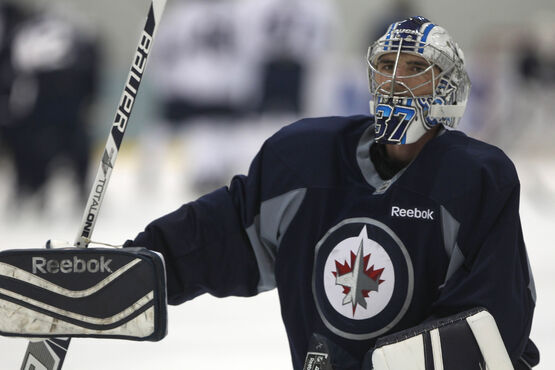 Connor Hellebuyck made 50 saves to earn the shutout.