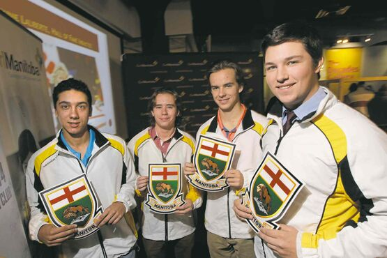 Colin Kurz (from left) and Ryan Lemoine, Weston Oryniak and Brendan Bilawka have punched their ticket for Prince George.