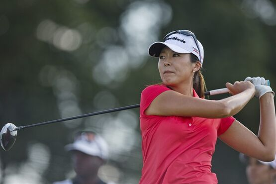 Mi Jung Hur tees off on the second hole during the final round of the LPGA Classic golf tournament at Capitol Hill on Sunday, Sept. 21, 2014, in Prattville, Ala .(AP Photo/Brynn Anderson)