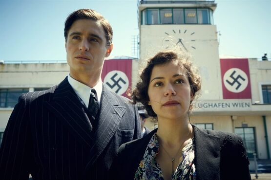 This photo provided by The Weinstein Company shows, Max Irons, left, and Tatiana Maslany, in a scene from the film,