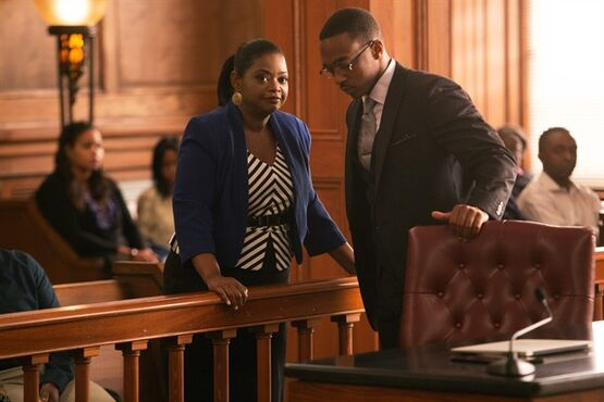 This photo released by Relativity Media shows Octavia Spencer and Anthony Mackie, right, in a scene from Relativity Media's