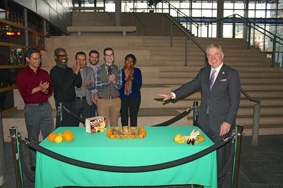 In this Nov. 21, 2014 photo provided by the office of Seattle Mayor Ed Murray, Murray poses for a photo as he