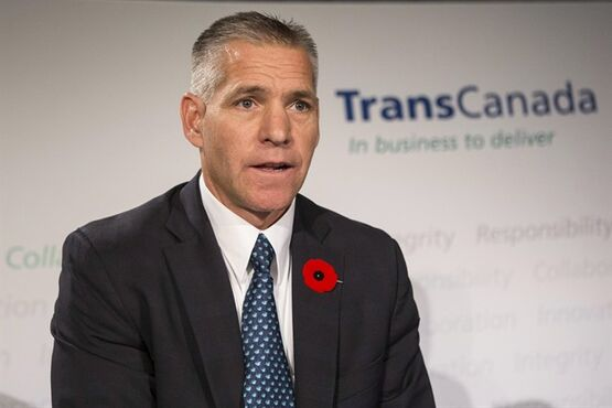 TransCanada's President and CEO Russ Girling attends a news conference in Toronto on Thursday, October 30, 2014.TransCanada announced that it has filed a formal project application for the Energy East Pipeline Project with the National Energy Board of Canada.