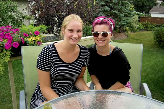 Janell Berezowski (left) and Natalia Moroz contributed an original play, Head of a Youth, to this year's Winnipeg Fringe Theatre Festival.