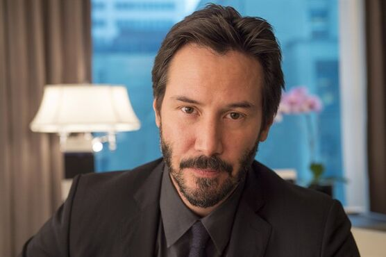 Actor Keanu Reeves is shown in an interview with The Canadian Press in Toronto on Monday October 20, 2014. It's been a year of milestones for Reeves, or